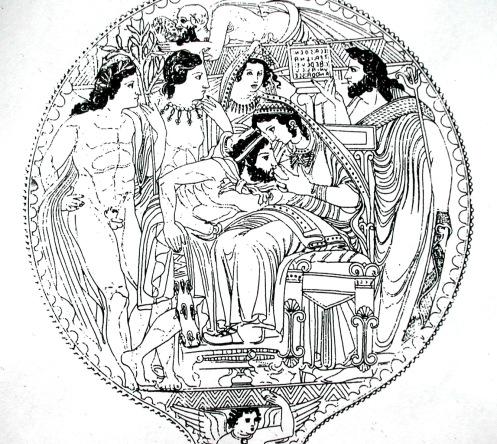 Etruscan mirror Herakles