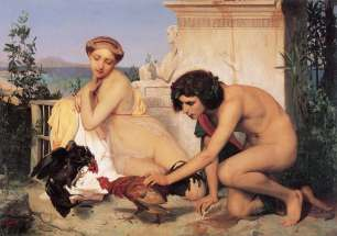 Gerome_1846_Young-Greeks-at-a-Cock-Fight_GGW-411